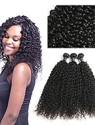 tanie -3 zestawy Włosy brazylijskie Jerry Curl 8A Włosy naturalne Doczepy z naturalnych włosów 10-26 in Natutalne Ludzkie włosy wyplata Najwyższa jakość Nowości Gorąca wyprzedaż Ludzkich włosów