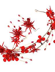 Недорогие -Жен. Красный Старинный Комплект ювелирных изделий Искусственный жемчуг Гипсофила Этнический Включают Украшения для лба Красный Назначение Свадьба Для вечеринок