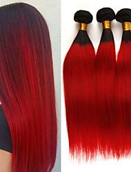 Недорогие -3 Связки Бразильские волосы Прямой 10A человеческие волосы Remy Накладки из натуральных волос 10-26 дюймовый Нейтральный Ткет человеческих волос Мягкость Лучшее качество Новое поступление
