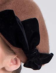 Недорогие -Трикотаж / Шерсть Головные уборы / Аксессуары для волос с Бант / Кепки 1 шт. Свадьба / На каждый день Заставка