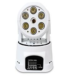 Недорогие -сценическое освещение 6 плюс 1 привело четыре в одном небольшой движущийся головной свет лазерный движущийся головной свет свет лазерный свет ktv