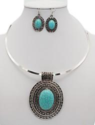 Недорогие -Жен. Старинный Комплект ювелирных изделий - Мода Включают Винтажное ожерелье Серебряный Назначение Повседневные