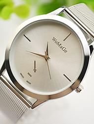 baratos -Casal Relógio Elegante Relógio de Pulso Quartzo Dourada Relógio Casual Adorável Analógico Elegante Minimalista - Dourado Prata