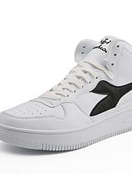 abordables -Homme Chaussures de confort Cuir Hiver Sportif / Décontracté Basket Augmenter la hauteur Bloc de Couleur Noir / Noir et blanc / Vert