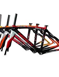 Недорогие -Рама для  дорожного велосипеда Углеродное волокно Велоспорт Рамка 700C Заезд на 3 км см дюймовый