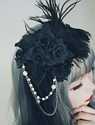 abordables -Cygne noir Femme Fille Rétro Gothique Princesse Steampunk Coiffure Bandeaux Pique cheveux Pour Mascarade Ecole Usage quotidien Coiffure Bijoux de fantaisie