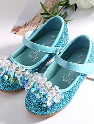 abordables -Fille Chaussures Faux Cuir Hiver Chaussures de Demoiselle d'Honneur Fille Chaussures à Talons Paillette / Scotch Magique pour Enfants / Adolescent Argent / Bleu / Rose