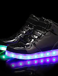 Недорогие -Мальчики / Девочки Обувь Полиуретан Наступила зима Обувь с подсветкой Кеды LED для Черный / Серебряный / Синий
