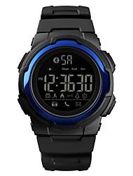 Недорогие -SKMEI Муж. Спортивные часы Армейские часы Цифровой Стеганная ПУ кожа Черный 50 m Bluetooth Календарь Секундомер Цифровой На каждый день Мода - Черный Светло-синий Темно-синий / Один год / Хронометр