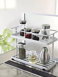 baratos -Alta qualidade com Ferro Prateleiras e Suportes / Caixas de Armazenamento / Rack de armazenamento de saco de lixo Para a Casa / Para utensílios de cozinha / Utensílios de Cozinha Inovadores Cozinha