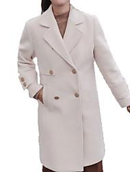 Недорогие -длинная шерстяная шерсть для женщин - сплошной цвет