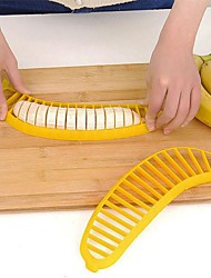 baratos -Prático cozinha amarelo banana banana slicer cortador chopper utensílios de cozinha utensílio criativo salada ferramenta