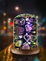 Недорогие -HKV 1шт LED Night Light Цветной USB Креатив / День рождения / Романтика 5 V