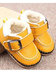 Недорогие -Мальчики / Девочки Обувь Кожа Зима Удобная обувь / Обувь для малышей Кеды Пряжки для Дети / Ребёнок до года Желтый / Красный / Розовый