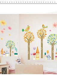 Недорогие -Декоративные наклейки на стены - Простые наклейки Пейзаж / Цветочные мотивы / ботанический В помещении / Детская