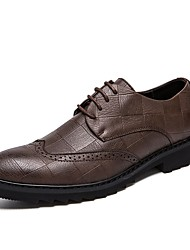 billige -Herre Komfort Sko PU Vinter Oxfords Sort / Brun / Fest / aften