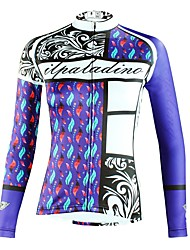 cheap -ILPALADINO Women's Long Sleeve Cycling Jersey - Blue Fashion Bike Top Ultraviolet Resistant Sports Winter Elastane Mountain Bike MTB Road Bike Cycling Clothing Apparel