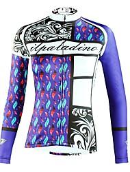 billige -ILPALADINO Dame Langærmet Cykeltrøje - Blå Mode Cykel Toppe Ultraviolet Resistent Sport Vinter Elastin Bjerg Cykling Vej Cykling Tøj