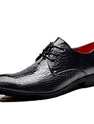 baratos -Homens Sapatos formais Sintéticos Primavera & Outono Negócio / Casual Oxfords Não escorregar Preto / Azul / Vinho
