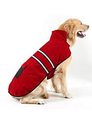 Недорогие -Собаки / Коты Пуховики Одежда для собак В полоску Красный Плюшевая ткань Костюм Для домашних животных Универсальные Обычные / Для отдыха
