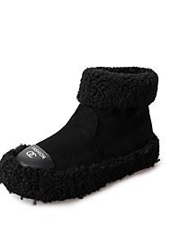 Недорогие -Жен. Искусственный мех Весна & осень / Зима На каждый день Ботинки На плоской подошве Круглый носок Ботинки Черный / Хаки