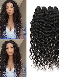 זול -4 חבילות שיער ברזיאלי Water Wave שיער ראמי שיער אדםלא מעוב טווה שיער אדם שיער Bundle פתרון חפיסה אחת 8-28 אִינְטשׁ צבע טבעי שוזרת שיער אנושי יצירתי קלאסי מכירה חמה תוספות שיער אדם בגדי ריקוד נשים