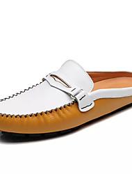 hesapli -Erkek Ayakkabı PU İlkbahar yaz Günlük Mokasen & Bağcıksız Ayakkabılar Günlük için Siyah / Sarı / Mavi