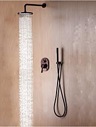 Недорогие -Смеситель для душа - Современный / Простой Начищенная бронза На стену Керамический клапан Bath Shower Mixer Taps / Латунь / Одной ручкой три отверстия