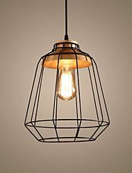 baratos -Lanterna Luzes Pingente Luz Ambiente Madeira Metal Estilo Mini, Criativo 110-120V / 220-240V