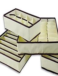 Недорогие -Нетканый материал Прямоугольная Новый дизайн / Милый Главная организация, 1 комплект Коробки для хранения