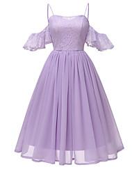 Недорогие -Жен. Классический Оболочка Платье Средней длины