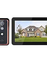 Недорогие -mountainone 9-дюймовый проводной Wi-Fi видео домофон домофон домофон вход с 1000tvl проводной ir-cut камеры ночь visionsupport удаленное приложение