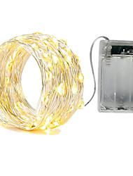 Недорогие -ZDM® 3M Гирлянды 30 SMD светодиоды SMD5630 Тёплый белый / Холодный белый / Красный Водонепроницаемый / Для вечеринок / Декоративная Аккумуляторы AA 1шт / IP65