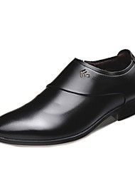 cheap -Men's Comfort Shoes PU(Polyurethane) Spring &  Fall Oxfords Black