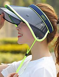 billige -kvinders pu sol hat - farve blok
