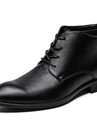 billiga -Herr Fashion Boots Syntet Höst vinter Ledigt / Brittisk Stövlar Håller värmen Korta stövlar / ankelstövlar Svart