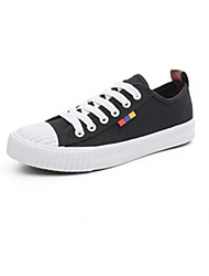 cheap -Men's Comfort Shoes Canvas Spring &  Fall Sneakers White / Black