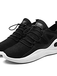 hesapli -Erkek Ayakkabı PU Bahar Günlük Atletik Ayakkabılar Yürüyüş Günlük için Siyah / Siyah / Beyaz / Siyah / Kırmızı