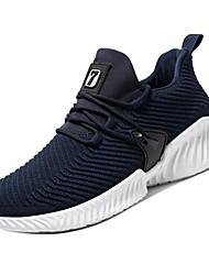 hesapli -Erkek Ayakkabı Elastik Kumaş / Tissage Volant Bahar Sportif Atletik Ayakkabılar Koşu Atletik için Siyah / Gri / Mavi
