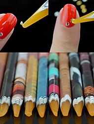 Недорогие -1шт Инструмент для ногтей Инструменты для ногтей DIY Многофункциональный / Лучшее качество Белая серия маникюр Маникюр педикюр Экологичный материал модный / Мода Повседневные