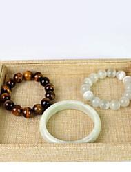 levne -Úložný prostor Organizace Sbírka šperků Bavlna Čtvercový Zábavné
