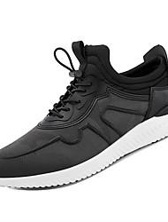 hesapli -Erkek Ayakkabı PU / Elastik Kumaş Kış Sportif Atletik Ayakkabılar Koşu Atletik için Siyah / Gri / Şarap