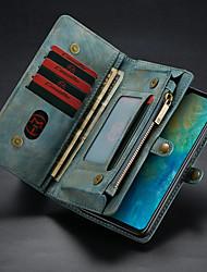 Недорогие -CaseMe Кейс для Назначение Huawei Huawei Mate 20 Кошелек / Бумажник для карт / со стендом Чехол Однотонный Твердый Кожа PU для Huawei Mate 20