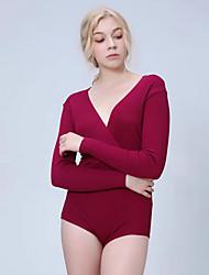 billige -Dame - Ensfarvet Gade Bodysuit