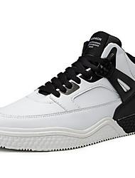 baratos -Homens Sapatos Confortáveis Microfibra Primavera Verão Esportivo Tênis Basquete Branco / Preto / Preto / Vermelho