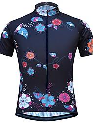 Недорогие -JESOCYCLING Жен. С короткими рукавами Велокофты - Черный Велоспорт Верхняя часть Быстровысыхающий Виды спорта 100% полиэстер Горные велосипеды Шоссейные велосипеды Одежда / Эластичная