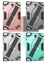 Недорогие -Кейс для Назначение SSamsung Galaxy Tab S4 10.5 (2018) / Tab A2 10.5(2018) Защита от удара / со стендом Кейс на заднюю панель Плитка / броня Твердый ПК для Tab S4 10.5 (2018) / Tab S3 9.7 / Tab A