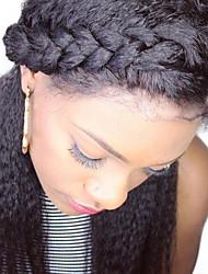 Недорогие -Dolago Бразильские волосы 360 Лобовой Прямой Бесплатный Часть / Средняя часть Французское кружево человеческие волосы Remy / Натуральные волосы Жен. с детскими волосами / Для темнокожих женщин / 100