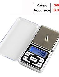 Недорогие -Весы 200 г / 0,01 г электронные весы электронные кухонные весы кухонные весы портативные золотые ювелирные весы