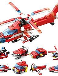Недорогие -Конструкторы 52 pcs Армия Корабль Вертолет трансформируемый Простой Пожарная машина Самолёт Катер Все Игрушки Подарок